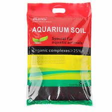 langa aquarium aquasoil for plants in a red and green packet